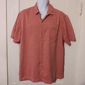 EUC Tommy Bahamas Silk Coral Shirt